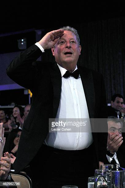 Former Vice President of the United States Al Gore attends the PreGRAMMY Gala and Salute to Industry Icons honoring Martin Bandier at The Beverly...