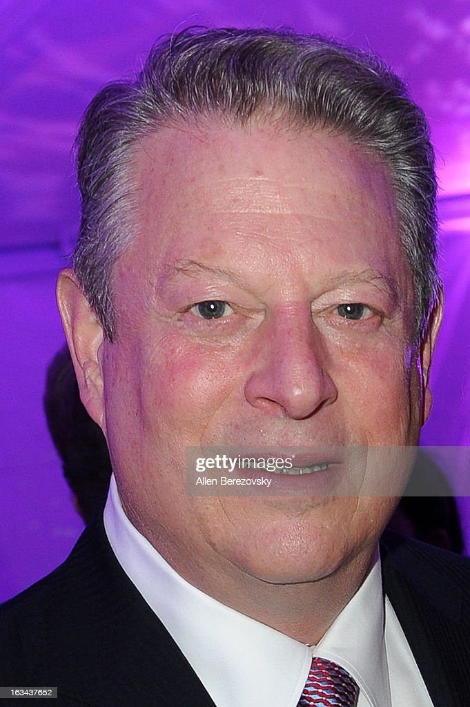 Former vice president of the United States Al Gore attends the UCLA Institute of the Environment and Sustainability's 2nd Annual 'An Evening Of Environmental Excellence' on March 5, 2013 in Beverly Hills, California.