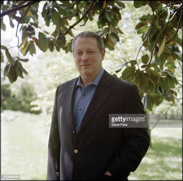 Former Vice President of The United States Al Gore poses at a portrait session for Time Magazine in Nashville A cropped version of this image was...