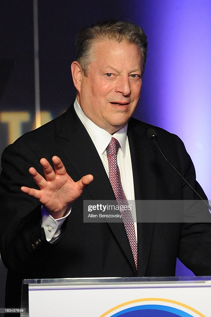 Former vice president of the United States Al Gore speaks at the UCLA Institute of the Environment and Sustainability's 2nd Annual 'An Evening Of Environmental Excellence' on March 5, 2013 in Beverly Hills, California.