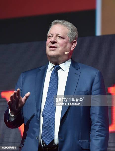 Former Vice President of the United States Al Gore speaks onstage at CinemaCon 2017 Paramount Pictures Presentation Highlighting Its Summer of 2017...