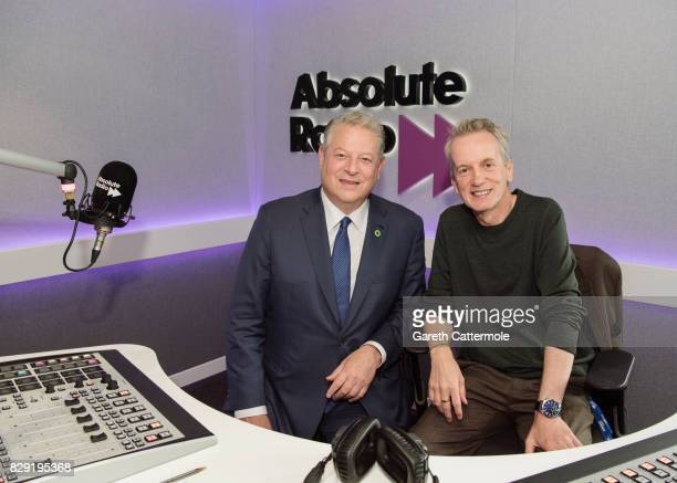 Former Vice President of the United States Al Gore visits Frank Skinner at Absolute Radio on August 10 2017 in London England