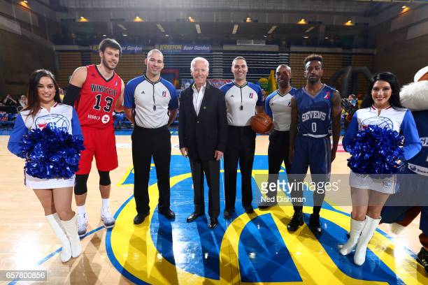 Former Vice President of the United States of America Joe Biden attends the Windy City Bulls against the Delaware 87ers on March 25 2017 at Bob...