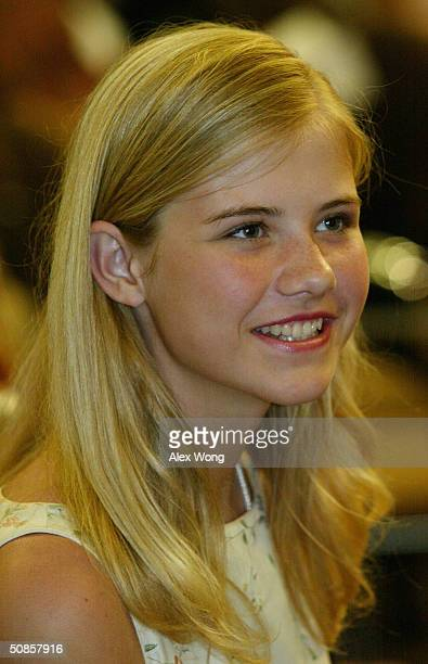 Former victim of abduction Elizabeth Smart attends a National Missing Children's Day event at the Justice Department May 19 2004 in Washington DC...