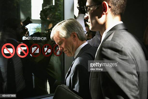 Former Virginia Governor Robert McDonnell arrives at his corruption trial at US District Court for the Eastern District of Virginia with his soninlaw...
