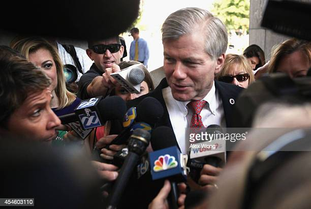 Former Virginia Governor Robert McDonnell arrives at his corruption trial at US District Court for the Eastern District of Virginia September 4 in...