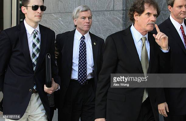 Former Virginia Governor Robert McDonnell leaves at the end of the day of his corruption trial at US District Court for the Eastern District of...