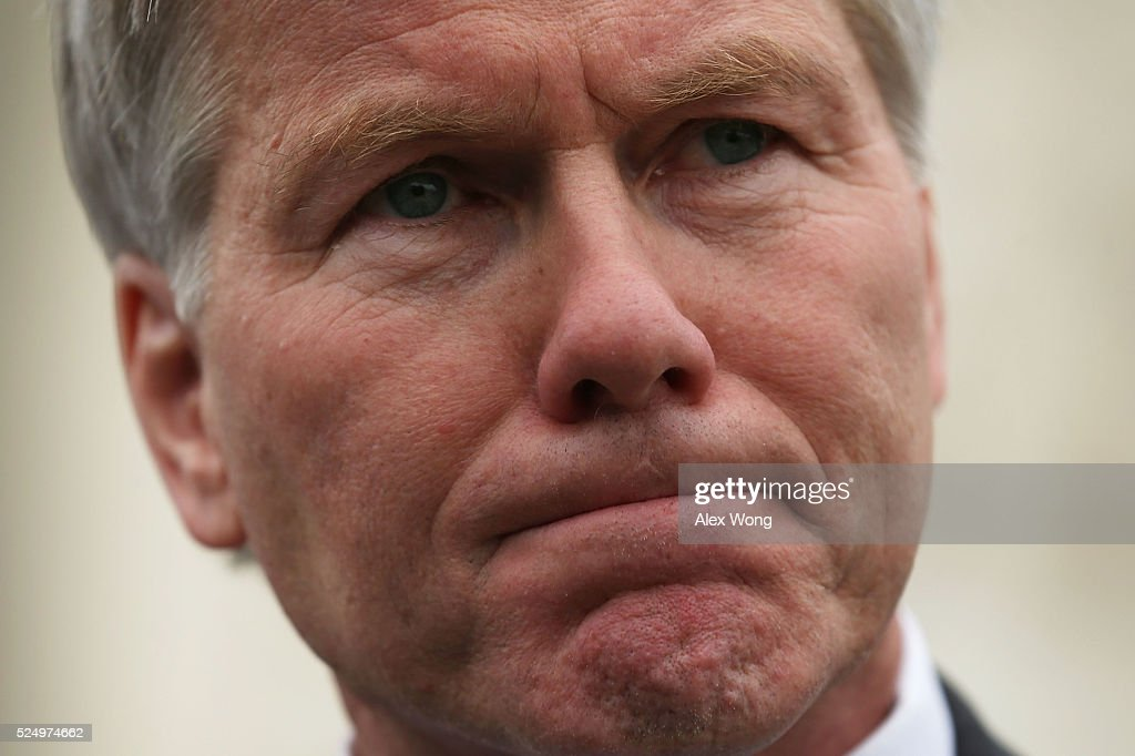 Former Virginia Governor Robert McDonnell speaks to members of the media in front of the U.S. Supreme Court April 27, 2016 in Washington, DC. The Supreme Court heard the corruption appeal from McDonnell, who and his wife were convicted of accepting more than $175,000 of gifts and favors from businessman Jonnie Williams, who wanted their help to promote his dietary supplement product called Anatabloc.