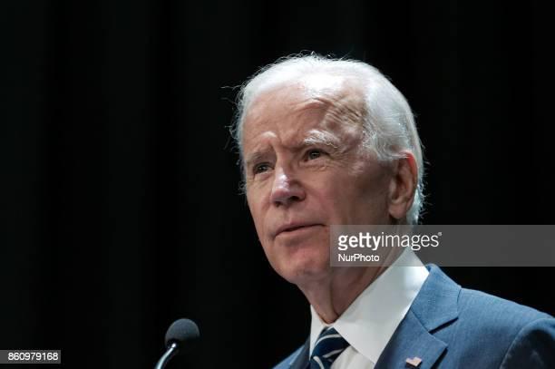 Former VP Joe Biden speaks during a partnership announcement between Doylestown Health and The Beau Biden Foundation in Warminster on October 10 2017