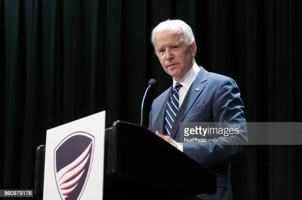 Former VP Joe Biden speaks during a partnership announcement between Doylestown Health and The Beau Biden Foundation in Warminster PA on October 10...