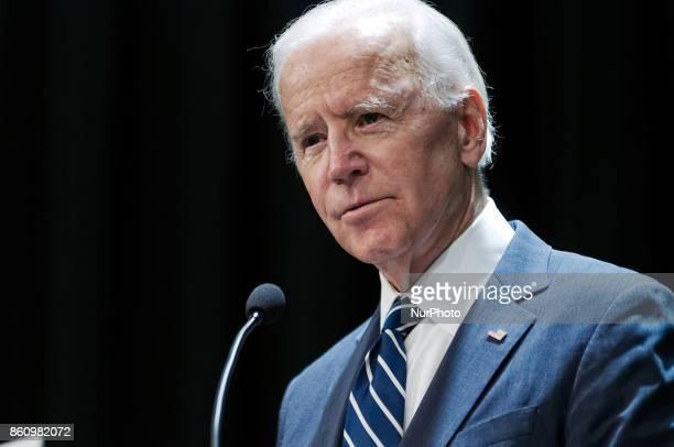 Former VP Joe Biden speaks during a partnership announcement between Doylestown Health and The Beau Biden Foundation in Warminster PAon October 10...
