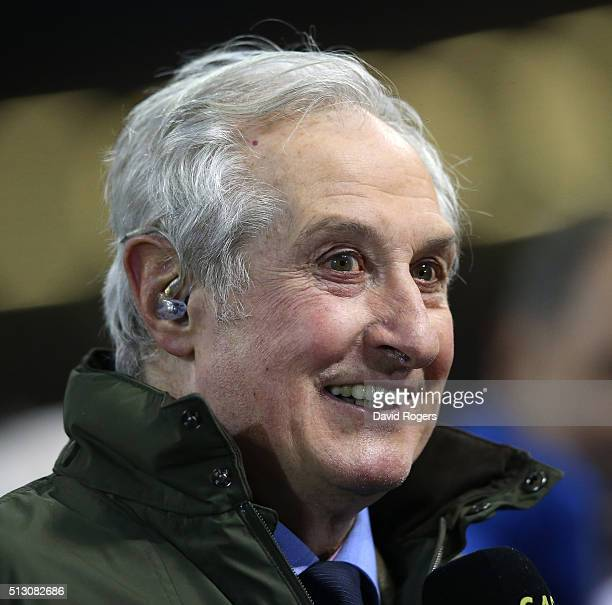 Former Wales and British Lions scrumhalf Sir Gareth Edwards looks on during the RBS Six Nations match between Wales and France at the Principality...