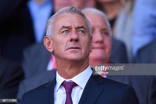 Former Wales striker Ian Rush watches the action during the UEFA EURO 2016 group B qualifying match between Wales and Israel at Cardiff City Stadium...