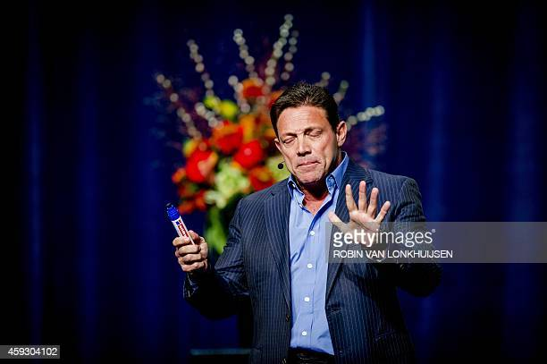 Former Wall Steet player turned novelist Jordan Belfort author of The Wolf of Wall Street which was adapted into a film by Martin Scorsese in 2013...