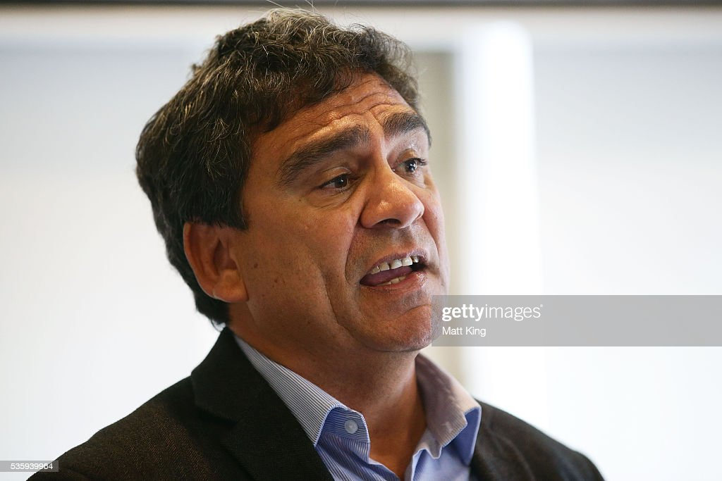 Former Wallabies player Gary Ella speaks during the ARU Reconciliation Action Plan Launch at the National Centre for Indigenous Excellence on May 31, 2016 in Sydney, Australia.