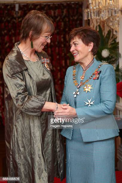 Former Wellington Mayor Celia WadeBrown receives the Queen's Service Order from GovernorGeneral Dame Patsy Reddy for services to local government at...