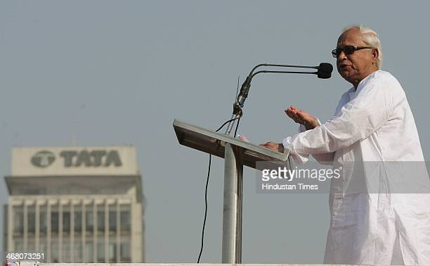 Former West Bengal chief minister Buddhadeb Bhattacharjee during the Left Front public rally to counter Trinamool Congress at Brigade Parade Ground...