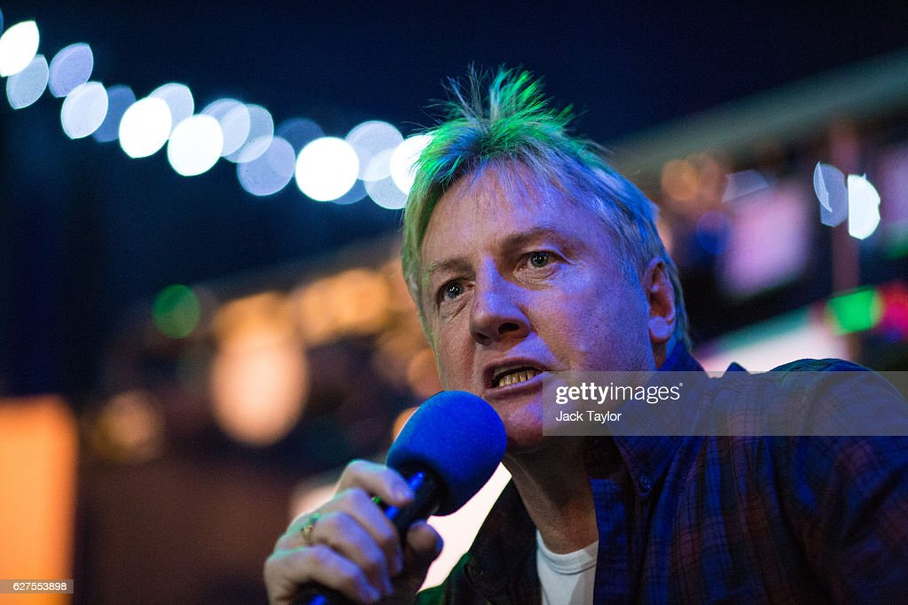 Former West Ham United Football Club player Frank McAvennie speaks at a pre-match event at the East Ham Working Men's Club in Upton Park on December 3, 2016 in London, England. West Ham United played Arsenal in a Premier League match on December 3, which marks more than six months since the football club moved from their Boleyn Ground stadium in Upton Park to the London Stadium in Stratford. Local businesses are suffering as the former West Ham United ground is being demolished to make way for more than 800 homes.