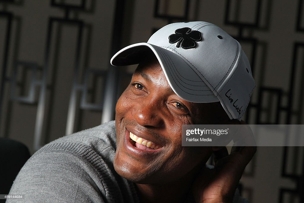 Former West Indian cricket player <a gi-track='captionPersonalityLinkClicked' href=/galleries/search?phrase=Brian+Lara&family=editorial&specificpeople=162724 ng-click='$event.stopPropagation()'>Brian Lara</a> poses for a portrait on November 17, 2014 in Sydney, Australia. Lara is in Sydney to play in a Pro-Am golf tournament.