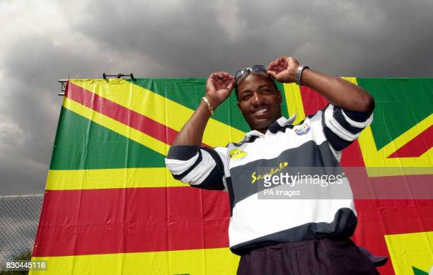 Former West Indies' cricket captain Brian Lara at Ferndale Sports Centre in Brixton London at a youth cricket coaching day Channel Four Surrey County...