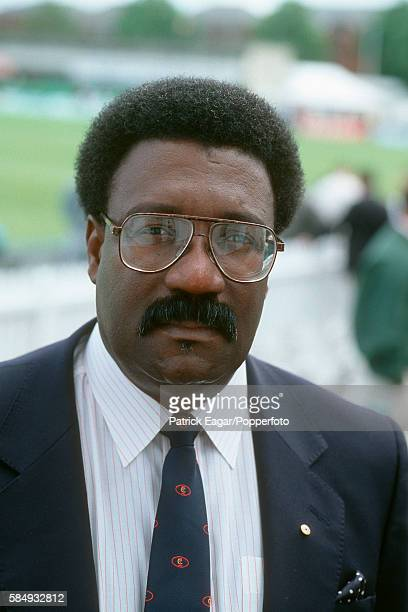 Former West Indies player Clive Lloyd match referee of the 1st Test match between England and New Zealand at Trent Bridge Nottingham 2nd June 1994