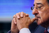 Former White House Chief of Staff Leon Panetta testifies before the Senate Budget Committee on Capitol Hill October 31 2007 in Washington DC...