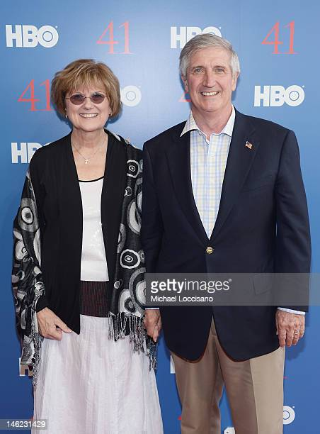 Former White House Chief of Staff The Honorable Andrew Card and wife Kathleene Card attend the HBO Documentary special screening of '41' on June 12...