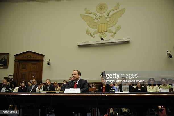 Former White House Press Secretary Scott McClellan testifies before the House Judiciary Committee on Capitol Hill in Washington DC McClellan was...