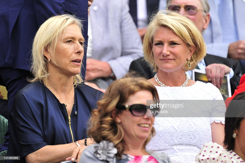 former wimbledon womens singles champion martina navratilova l with eve short r