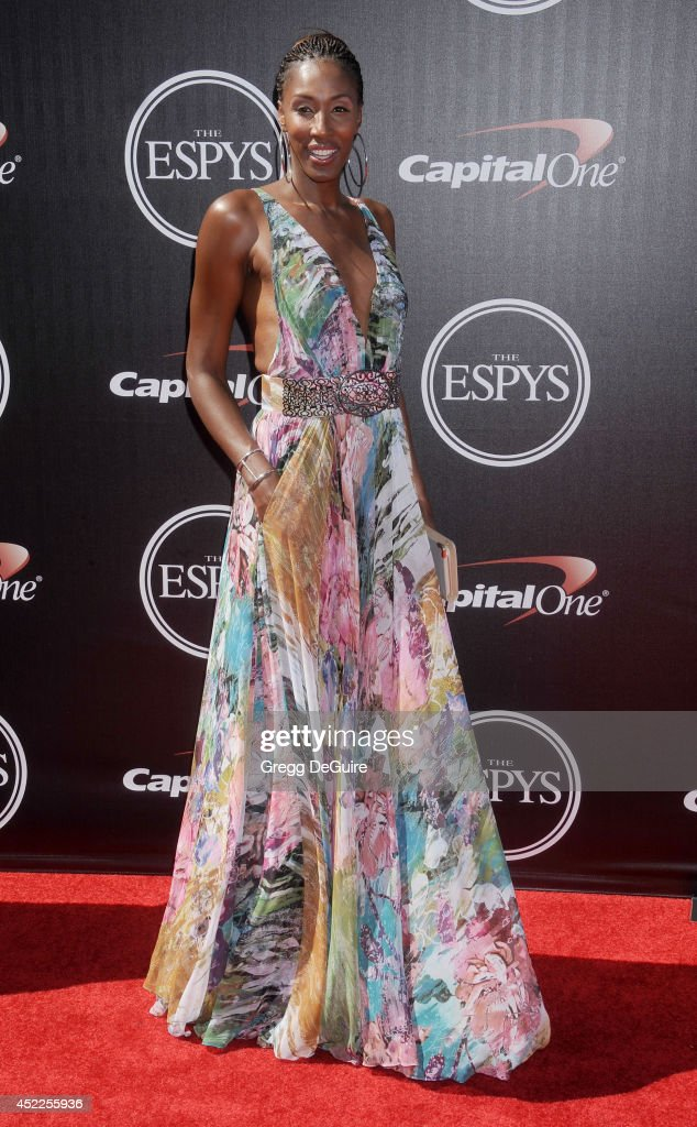 Former WNBA All-Star Lisa Leslie arrives at the 2014 ESPY Awards at Nokia Theatre L.A. Live on July 16, 2014 in Los Angeles, California.