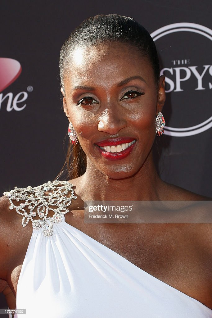 Former WNBA basketball player <a gi-track='captionPersonalityLinkClicked' href=/galleries/search?phrase=Lisa+Leslie&family=editorial&specificpeople=202228 ng-click='$event.stopPropagation()'>Lisa Leslie</a> attends The 2013 ESPY Awards at Nokia Theatre L.A. Live on July 17, 2013 in Los Angeles, California.