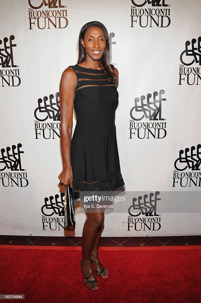 Former WNBA basketball player Lisa Leslie attends the 27th Annual Great Sports Legends Dinner to benefit the Buoniconti Fund to Cure Paralysis at The Waldorf=Astoria on September 24, 2012 in New York City.