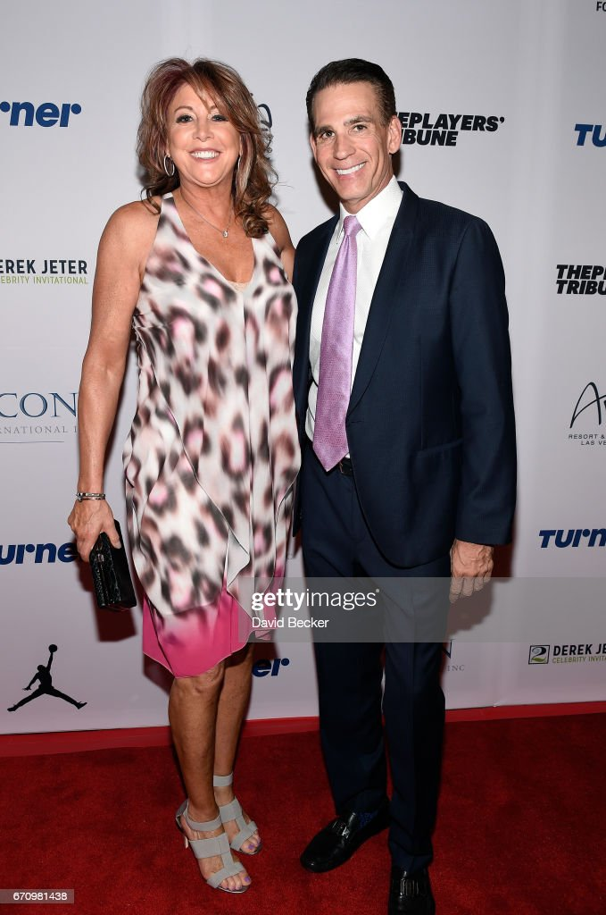 Former WNBA player and current NBA assistant coach Nancy Lieberman (L) attends the 2017 Derek Jeter Celebrity Invitational gala at the Aria Resort & Casino on April 20, 2017 in Las Vegas, Nevada.