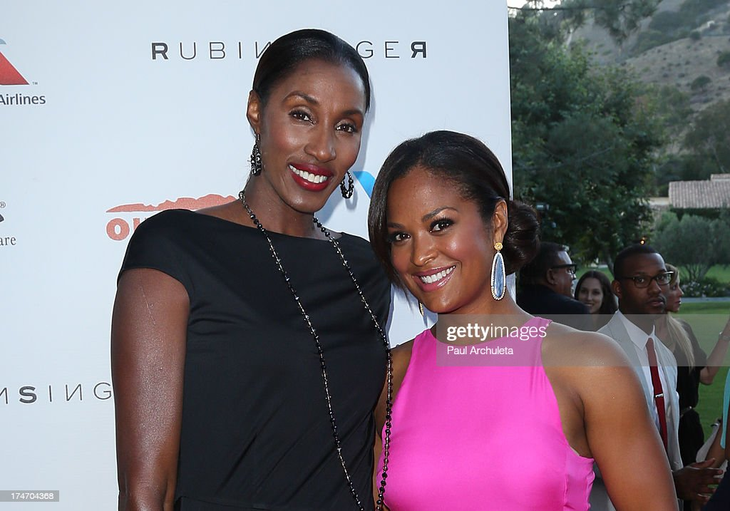 Former WNBA Player Lisa Leslie (L) and Former Pro Boxer Laila Ali (R) attend the 15th annual DesignCare charity event on July 27, 2013 in Malibu, California.