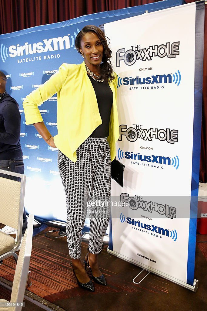 Former WNBA player <a gi-track='captionPersonalityLinkClicked' href=/galleries/search?phrase=Lisa+Leslie&family=editorial&specificpeople=202228 ng-click='$event.stopPropagation()'>Lisa Leslie</a> attends SiriusXM at Super Bowl XLVIII Radio Row on January 31, 2014 in New York City.