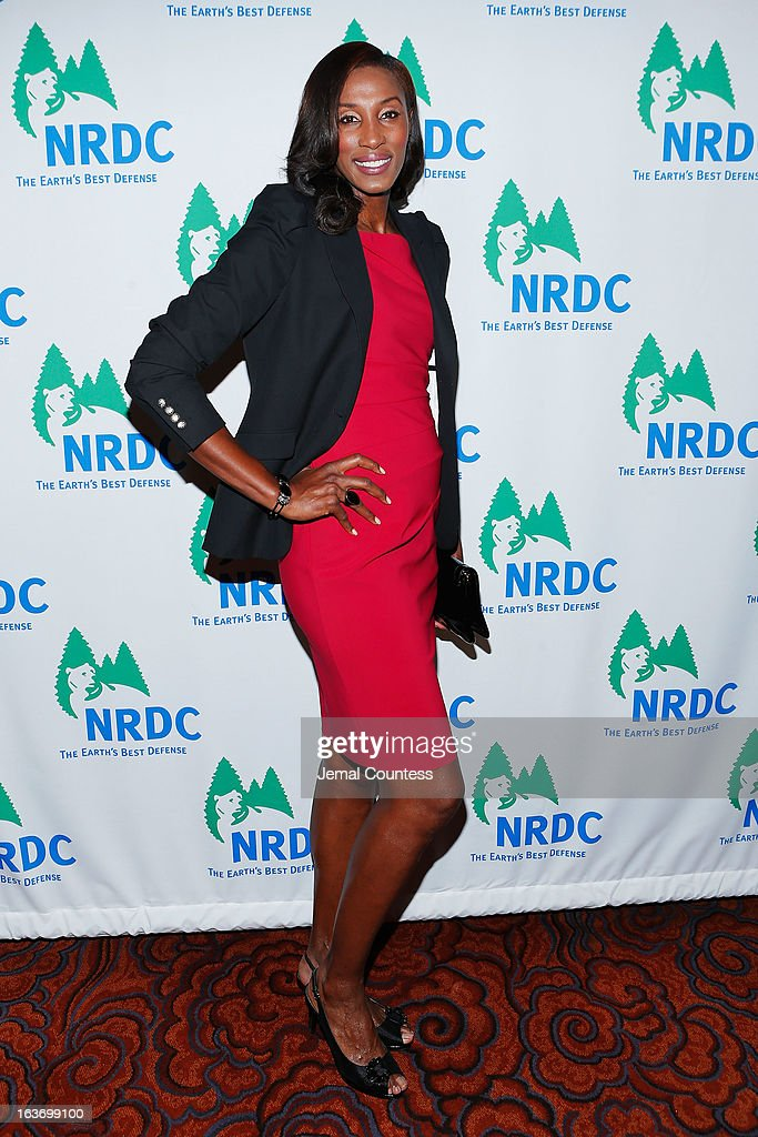 Former WNBA player Lisa Leslie attends the 2013 Natural Resources Defense Council Game Changer Awards at the Mandarin Oriental Hotel on March 14, 2013 in New York City.