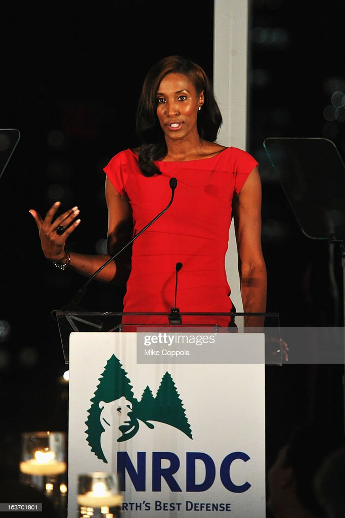 Former WNBA player <a gi-track='captionPersonalityLinkClicked' href=/galleries/search?phrase=Lisa+Leslie&family=editorial&specificpeople=202228 ng-click='$event.stopPropagation()'>Lisa Leslie</a> attends the 2013 Natural Resources Defense Council Game Changer Awards at the Mandarin Oriental Hotel on March 14, 2013 in New York City.