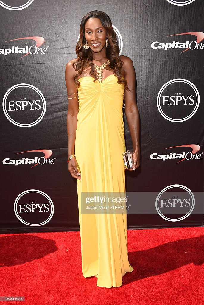 Former WNBA player Lisa Leslie attends The 2015 ESPYS at Microsoft Theater on July 15, 2015 in Los Angeles, California.