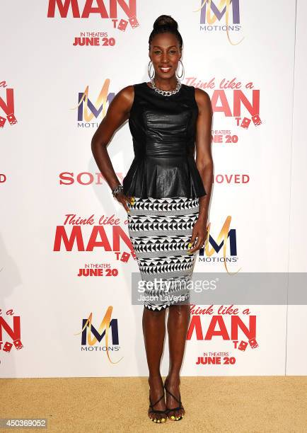 Former WNBA player Lisa Leslie attends the premiere of 'Think Like A Man Too' at TCL Chinese Theatre on June 9 2014 in Hollywood California