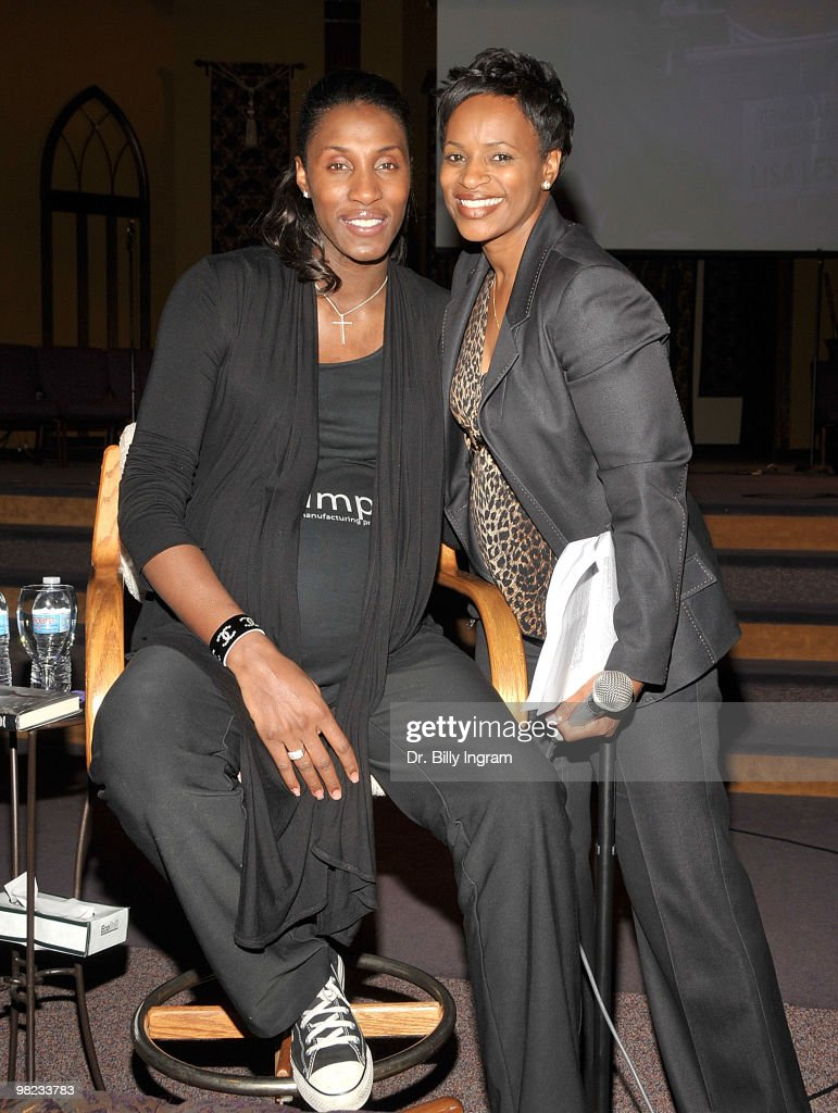 "Lisa Leslie Signs Copies Of Her Book ""Don't Let The Lipstick Fool You"""