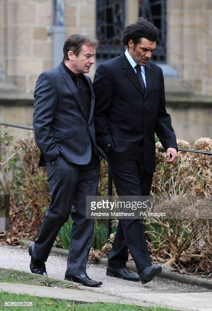 Former Wolverhampton Wanderers player Don Goodman arrives for the funeral of Dean Richards at Bradford Cathedral Bradford