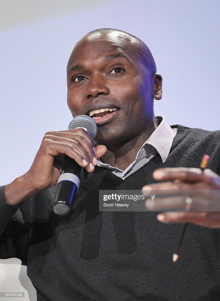 Former World 800m Champion and Champion for Peace of Peace and Sport, <a gi-track='captionPersonalityLinkClicked' href=/galleries/search?phrase=Wilson+Kipketer&family=editorial&specificpeople=162807 ng-click='$event.stopPropagation()'>Wilson Kipketer</a> attends a Plenary Session during the Peace & Sport 4th International Forum on December 2, 2010 in Monaco, Monaco.