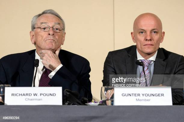 Former World AntiDoping Agency President and chairman of the WADA independent commission Richard W Pound and Head of Department Cybercrime with...