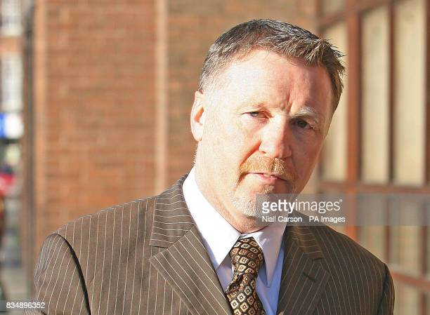 Former world boxing champion Steve Collins arrives at the Four Courts in Dublin where he faced charges of punching a doorman who did not recognise...