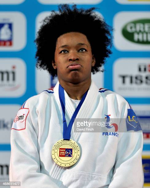 Former World champion and u78kg bronze medallist Audrey Tcheumeo of France during the Paris Grand Slam on Sunday February 09 2014 at the Palais...