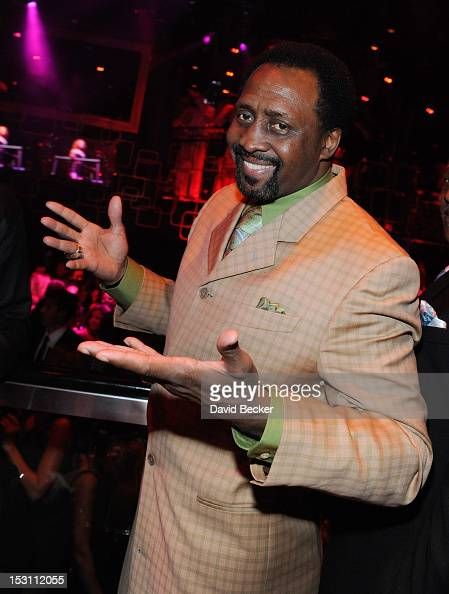Former world champion boxer Thomas Hearns attends the Hublot's Legendary Evening of Boxing afterparty at The Bank Nightclub at the Bellagio on...