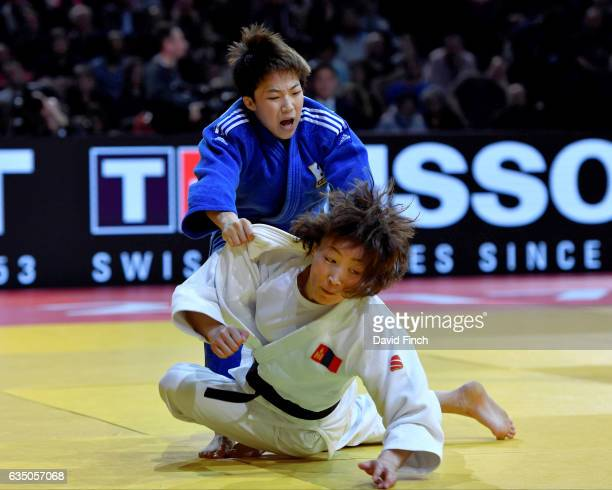 Former world champion Urantsetseg Munkhbat of Mongolia lost the u48kg final by ippon to Rio Olympic silver medallist Bokyeong Jeong of South Korea...