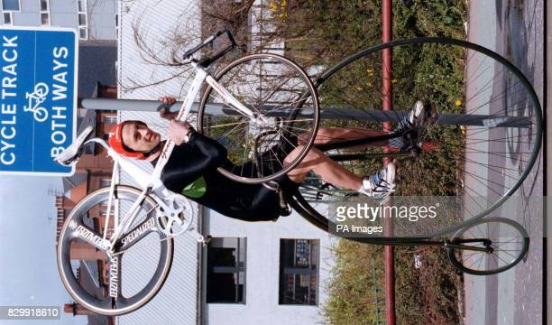 Former world cycling champion Graeme Obree contrasts the old and the new as he launches the 10th John Logie Baird Awards for innovation at the...