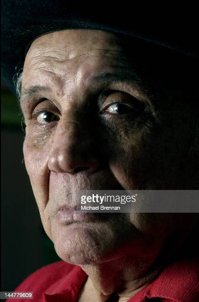 Former World Middleweight Boxing Champion Jake LaMotta in New York 2001 He was portrayed by actor Robert De Niro in the 1980 film 'Raging Bull'