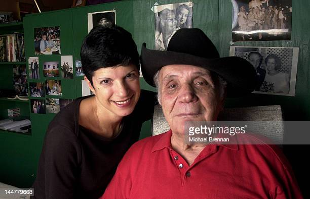 Former World Middleweight Boxing Champion Jake LaMotta with his fiancee Denise Baker in New York 2001